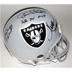 Marcus Allen, Fred Biletnikoff  Jim Plunkett Signed Raiders Full-Size Authentic Helmet with (3) SB M