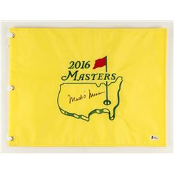 "Mark O'Meara Signed 2016 Masters Tournament 13"" x 17.5"" Golf Pin Flag (Beckett COA)"