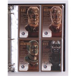 Pro Football Hall of Fame Bronze Bust Collector Card Set Signed by (147+) with Joe Montana, John Elw