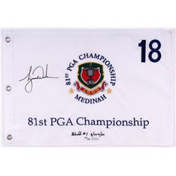 Tiger Woods Signed LE 1999 PGA Championship Pin Flag (UDA COA)