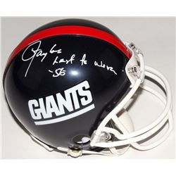 "Lawrence Taylor Signed Giants Mini Helmet Inscribed ""Last To Wear 56"" (JSA COA)"