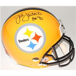 "Jack Lambert Signed Steelers Full-Size Authentic Helmet Inscribed ""HOF '90"" (Radtke COA  Lambert Hol"