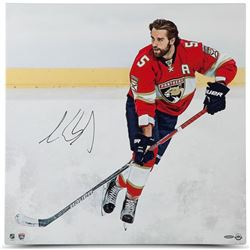 "Aaron Ekblad Signed Panthers ""Canvas Beginnings"" 24"" x 24"" Photo on Canvas (UDA COA)"