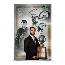 "Aaron Ekblad Signed Panthers ""2015 Calder Trophy"" 16"" x 24"" Photo Inscribed ""12G - 27A - 39P"" (UDA C"