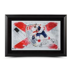 "Aaron Ekblad Signed Panthers 17"" x 25"" Custom Framed Hockey Stick Blade Display (UDA COA)"