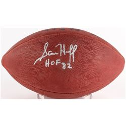 "Sam Huff Signed Official NFL Game Ball Inscribed ""HOF 82"" (JSA COA)"