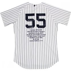 Hideki Matsui Signed LE Yankees Career Highlight Stat Jersey (Steiner COA  MLB Hologram)