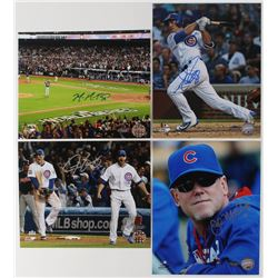 Lot of (4) Cubs 8x10 Photos with Justin Grimm, Mike Montgomery, Matt Szczur  John Mallee (Schwartz C