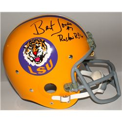 "Bert Jones Signed LSU Tigers Full-Size Throwback Suspension Helmet Inscribed ""Ruston Rifle"" (Radtke"