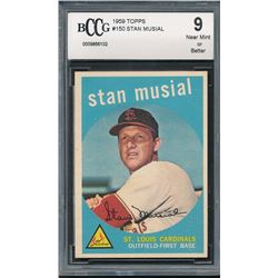 1959 Topps #150 Stan Musial (BCCG 9)