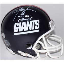 "Lawrence Taylor Signed Giants Mini Helmet Inscribed ""SB XXI XXV Champs"" (Radtke COA)"