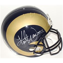 "Kurt Warner Signed Rams Full Size Replica Helmet Inscribed ""HOF 17"" (Radtke COA)"
