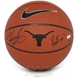 "Kevin Durant Signed Texas Longhorns Logo Basketball Inscribed ""Hook 'Em!"" (Panini COA)"