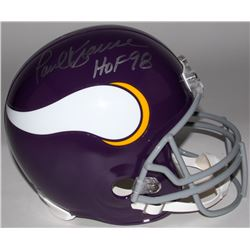 "Paul Krause Signed Vikings Full-Size Helmet Inscribed ""HOF 98"" (JSA COA)"