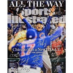 2016 Cubs World Series Champions 16x20 Photo Team-Signed by (20) with Anthony Rizzo, Kris Bryant, Ja
