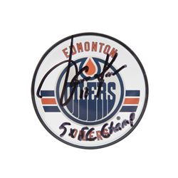 "Jari Kurri Signed Oilers Acrylic Hockey Puck Inscribed ""5x SC Champ"" (UDA COA)"
