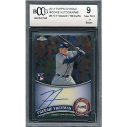 2011 Topps Chrome Rookie Autographs #173 Freddie Freeman (BCCG 9)