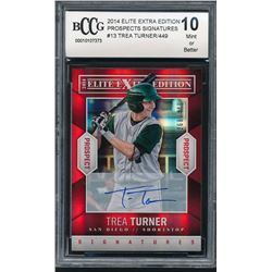 2014 Elite Extra Edition Prospects Signatures #13 Trea Turner #268/449 (BCCG 10)