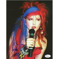 "Cyndi Lauper Signed 8x10 Photo Inscribed ""XX"" (JSA COA)"