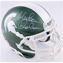 "Morten Andersen Signed Michigan State Spartans Mini-Helmet Inscribed ""Go Green"" (Radtke Hologram)"