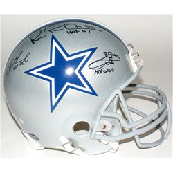 Emmitt Smith, Troy Aikman  Michael Irvin Signed Cowboys Full-Size Authentic On-Field Helmet with (3)