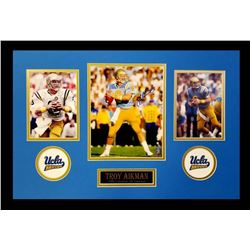 Troy Aikman Signed UCLA Bruins 16x26 Custom Framed Photo Display (Aikman Hologram)