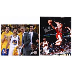 Lot of (2) Steve Kerr Signed 8x10 Photos (Schwartz COA)