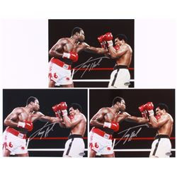 Lot of (3) Larry Holmes Signed 8x10 Photos (Schwartz COA)