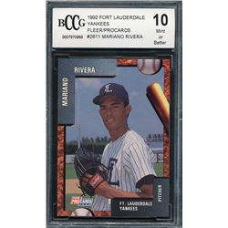 1992 Fort Lauderdale Yankees Fleer / ProCards #2611 Mariano Rivera (BCCG 10)