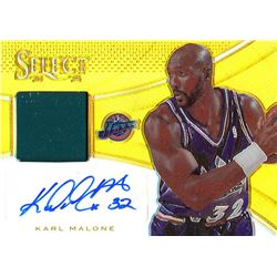 2013-14 Select Jersey Autographs Gold #31 Karl Malone #05/10