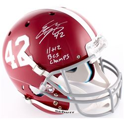 "Eddie Lacy Signed Alabama Full-Size Helmet Inscribed ""11  12 BCS Champ"" (Lacy Hologram)"