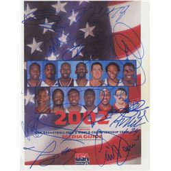 "2002 USA World Championship Basketball Team 8"" x 11"" Photo Team-Signed by (13) With Paul Pierce, Mic"