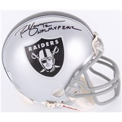 "Rich Gannon Signed Raiders Mini-Helmet Inscribed ""NFL MVP 2002"" (Radtke Hologram)"