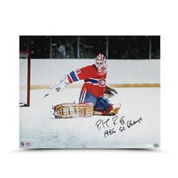 "Patrick Roy Signed Canadiens ""The Save"" 16x20 Photo Inscribed ""1986 SC Champs"" (UDA)"