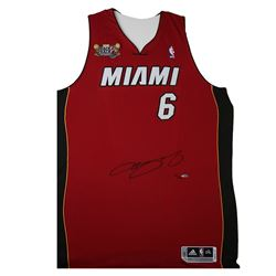 LeBron James Signed Heat Limited Edition Jersey with Back-to-Back NBA Champions Patch (UDA)