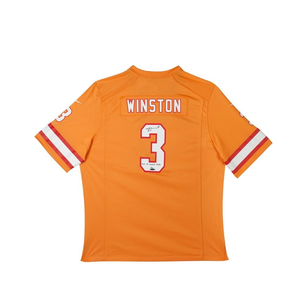 Image 1   Jameis Winston Signed Limited Edition Buccaneers Jersey Inscribed