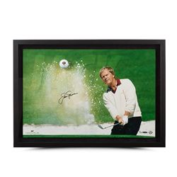 "Jack Nicklaus Signed ""Sand Trap"" 18x28 Custom Framed Limited Edition Photo Display (UDA)"