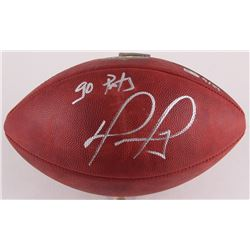 "David Ortiz Signed LE ""The Duke"" Official NFL Game Ball Inscribed ""Go Pats"" (MLB Hologram  Fanatics"