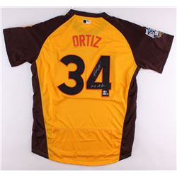 """David Ortiz Signed Authentic 2016 All Star Game Jersey Inscribed """"10x All Star"""" (MLB Hologram, Fanat"""