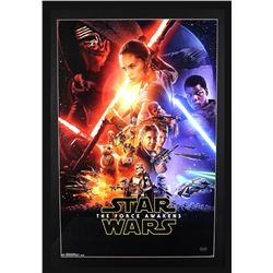 """Anthony Daniels Signed """"Star Wars: The Force Awakens"""" 29x42 Custom Framed Poster Display Inscribed """""""
