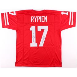 """Mark Rypien Signed Washington State Cougars Jersey Inscribed """"Go Cougs!!"""" (JSA COA)"""