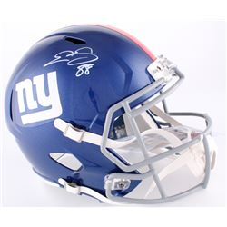 Evan Engram Signed Giants Full-Size Speed Helmet (Radke COA)