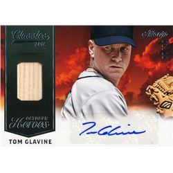 2014 Classics October Heroes Materials Combos Signatures #30 Tom Glavine #01/10
