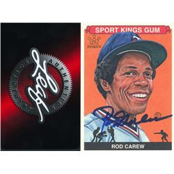 Rod Carew Signed 2012 Sportkings #216 (Leaf COA)
