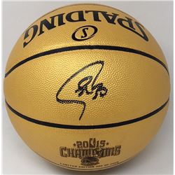 Stephen Curry Signed 2015 NBA Champions Basketball (Fanatics)