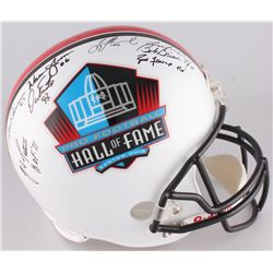 Hall of Fame Commermorative Full-Size Helmet Signed by (8) With Len Dawson, Troy Aikman, Dan Marino,