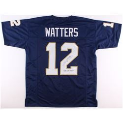 "Ricky Watters Signed Notre Dame Fighting Irish Jersey Inscribed ""1988 Nat. Champs""  (JSA COA)"