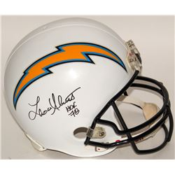 "Lance Allworth Signed Chargers Full-Size Replica Helmet Inscribed ""Hof 78"" (JSA COA)"
