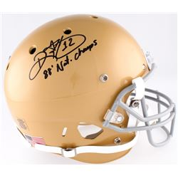 "Ricky Watters Signed Notre Dame Fighting Irish Full-Size Helmet Inscribed ""88' Nat. Champs"" (JSA COA"