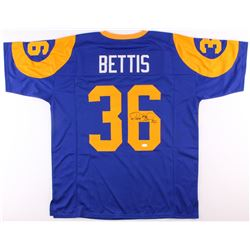Jerome Bettis Signed Rams Throwback Jersey (JSA COA)